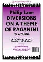 Philip Lane - Diversions on a Theme of Paganini
